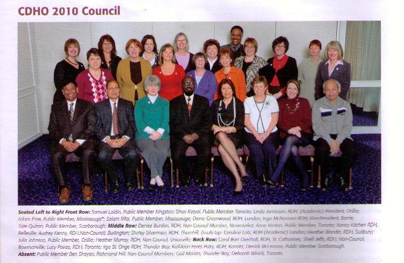 Sam Laldin and members of the CDHO 2010 Council